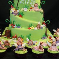 woodland fairy cake  by weng