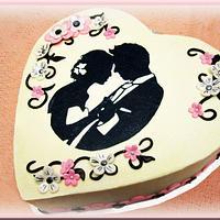 Jack & Jill shower cake