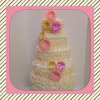 Five Tier Ruffle Wedding Cake