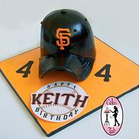 GIANTS baseball team hat cake