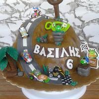 Angry birds GO! cake