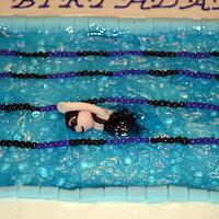 Pool cake by Jamie Dixon