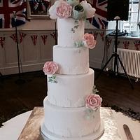 Chris & Carole's wedding cake