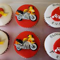 Bloodrun Bikers Emergency Voluntary Service Cupcakes