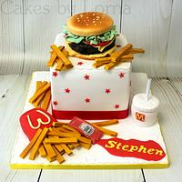 "McDonald's ""Big Tasty"" Burger Birthday Cake"