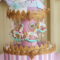 Carousel Cake First Birthday