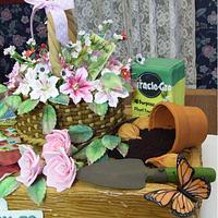 Garden Theme Cake by Linda Wolff
