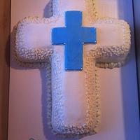 Baby Bruce's Baptism Cake