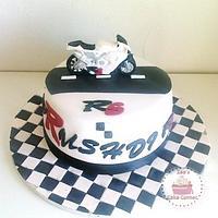 Yamaha R6 Theme Cake