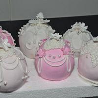 Christmas balls... sphere cakes