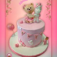 Baby girl one year cake