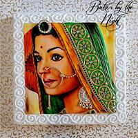 Aishwarya Rai Sketch Cake