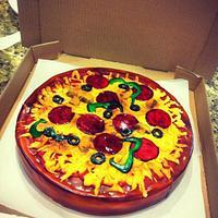 Pizza pie cake