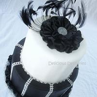 Elegant Ruffled Flower Cake