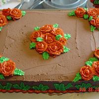 Practice Rose Sheet Cake