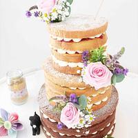 Pretty Naked Cake