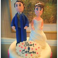Handmade Bride and Groom Topper