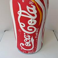 30th Birthday Coca-Cola Can Cake by Denise Frenette