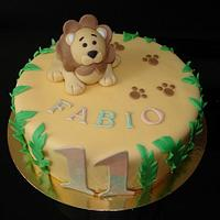 Lion Birthday Cake Boy