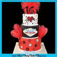 Sweet 16 Las Vegas Cake