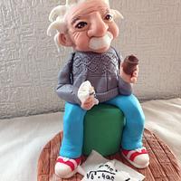 Einstein sculpted cake