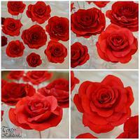 My fondant roses
