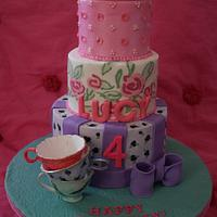 Imprinted Buttercream Tea Party Cake (with exclusive London touches)