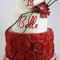Intricate Ruffle Rosettes Cake