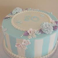 Elegance in Blue Cake