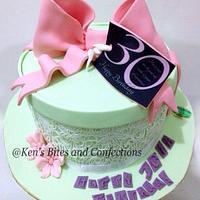 Vintage box cake