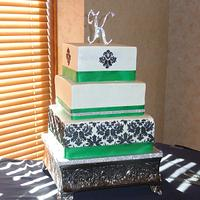 Green & White Wedding