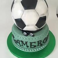 Well loved football cake
