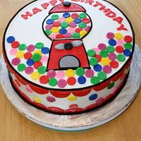 Gumball Machine Happy Birthday Cake