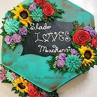 Rustic Bridal shower cake