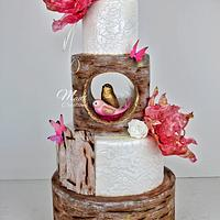 wedding cake by Madl créations
