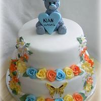 Baptism cake for a boy
