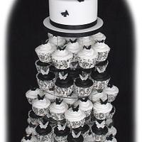 Black & White Butterfly Cupcakes