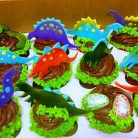 Chocolate Dino Cupcakes