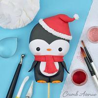 Cute Penguin Cake Topper