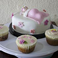 Baptism Cupcake Tower by Su