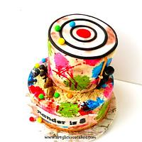 Paint Ball cake by iriene wang