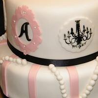 French-Vintage inspired birthday cake.
