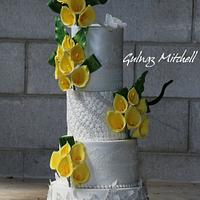"Wedding cake with calla lilies ""Lisa"""