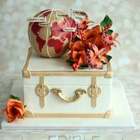 Around the world- Pre Wedding Cake