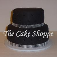 quilted bling cake