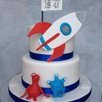 Rocket Cake by Kate Selwood