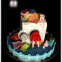 washing machine cake (debbie brown inspiration)