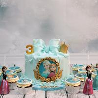 Frozen theme sweet table