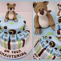 cute boys Christening Cake by Sweet Temptations Cakes by Louise Pain