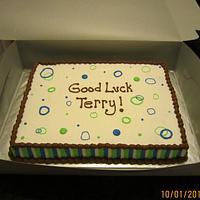 Good Luck Sheet Cake